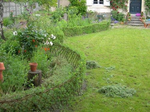 osier vivant, petite clôture basse pour séparer l\'espace - Espace ...