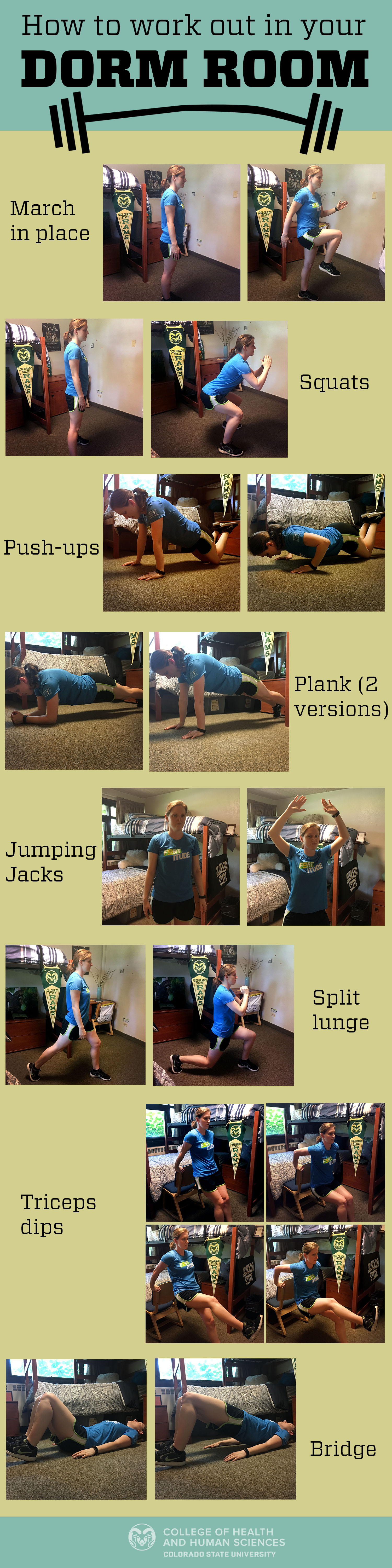 Marvelous Video: How To Work Out In Your Dorm Room. Thereu0027s No Space Too Small Part 31