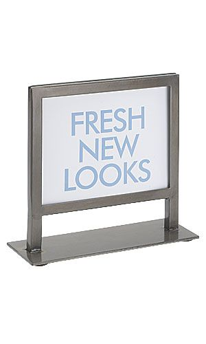 Countertop Boutique Sign Holder Raw Steel Too Small Sign