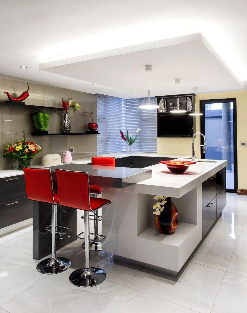 20 diseños de cocinas modernas ¡para inspirarte a remodelar la tuya ...