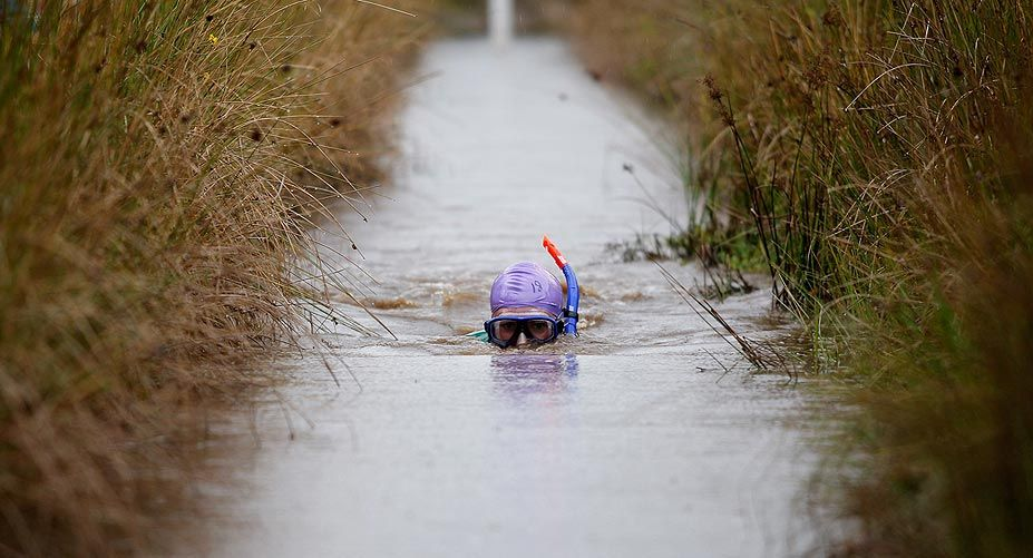 Strange is not a word : the most bizarre festivals around the global village BOG SNORKELLING , WALES
