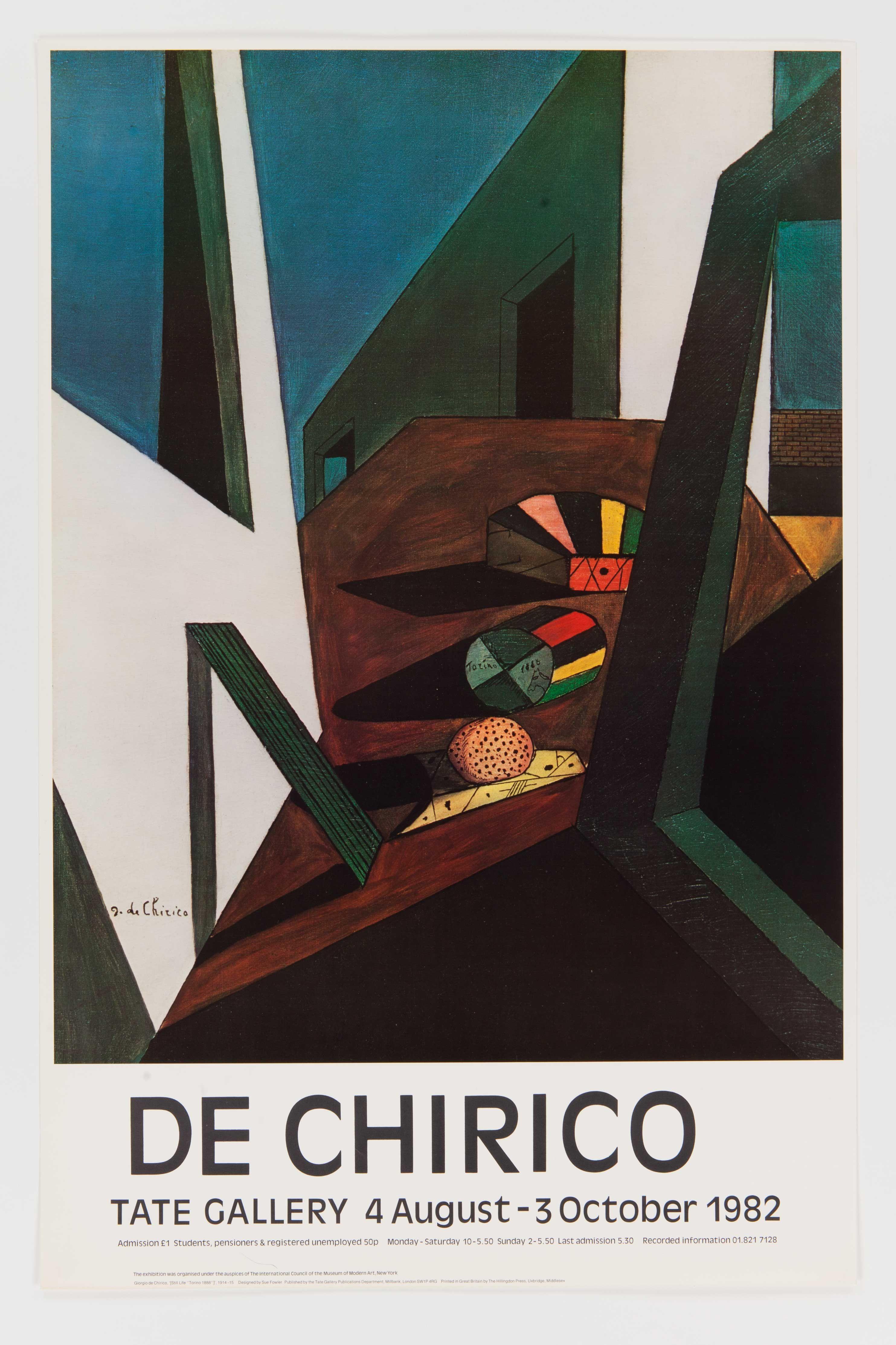 2019 Giorgio De Chirico Exhibition Poster Tate 1998 250