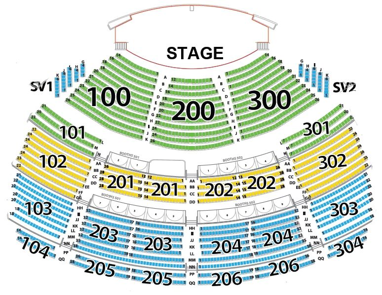 Spotlight 29 seating chart theatre theatre seating charts