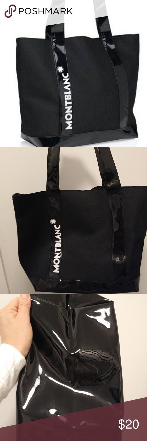 Montblanc Tote Bag Nwot Black Tote Bag Montblanc Bag Bags