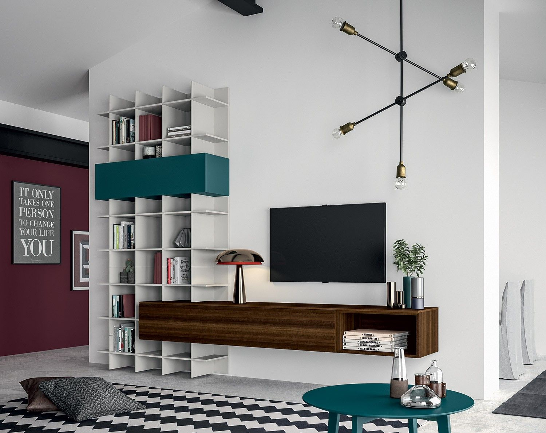 Meuble composable de s jour slim dekorasyon modular for Mobilya parete attrezzata