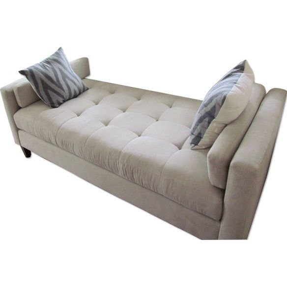 Ivory Chaise Lounge Backless Sofa Edelivery