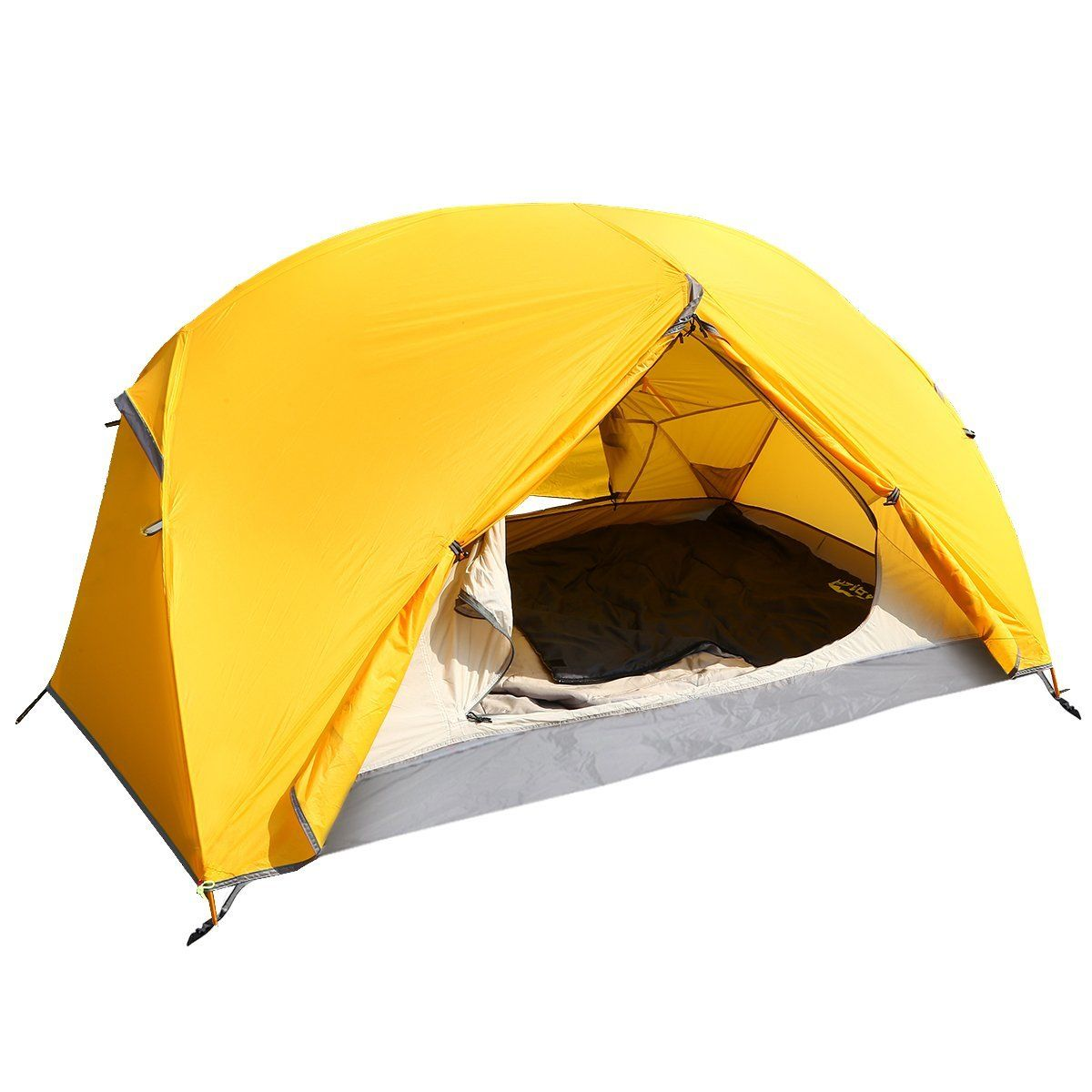 Lightweight Tent ARAER Person 4 Season Waterproof Compact Family Portable Double Layer C&ing Tent For C&ing Hiking Travel Climbing Picnic Yellow  sc 1 st  Pinterest & Lightweight Tent ARAER 2-3 Person 4 Season Waterproof Compact ...