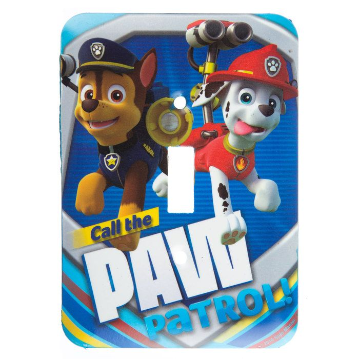 Blue Call the Paw Patrol Light Switch Plate⎜Open Road Brands | Tree ...
