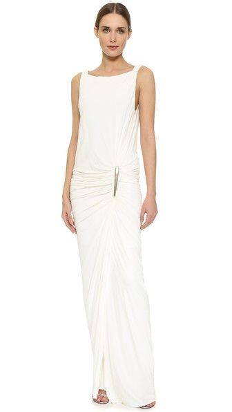 Donna Karan New York floor length sleeveless gown