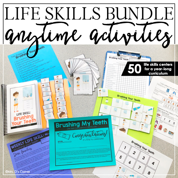 Anytime Activity Bundle Life Skills Curriculum Life Skills Centers Bundle Life Skills Curriculum Life Skills Life Skills Activities