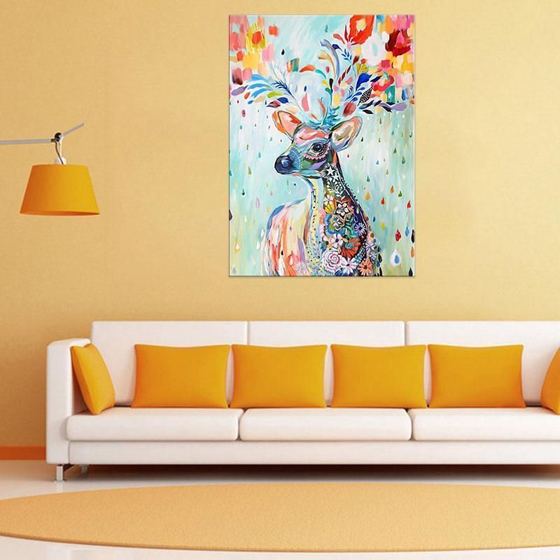 Canvas Prints Retro Home Decor Wall Art Picture Painting Poster Deer ...