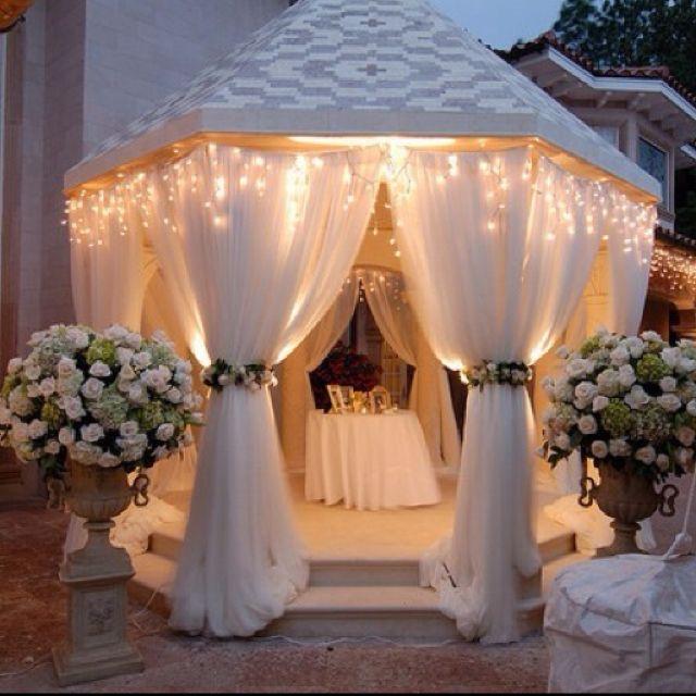 Gazebo Decor With Lights Gazebos Wedding Dream Wedding Wedding