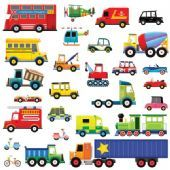 28 Transports Wall Stickers