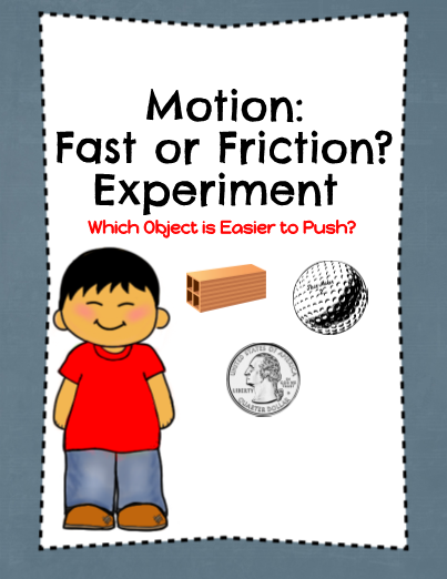 Motion Fast or Friction Experiment Scientific method