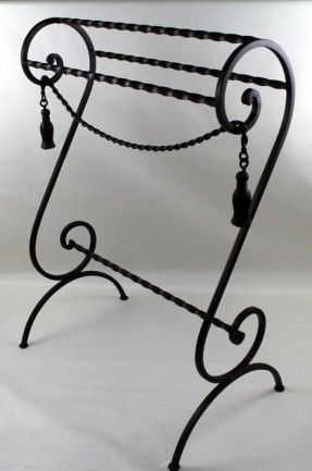 Wrought Iron Quilt Towel Rack Scroll Design Wrought Iron