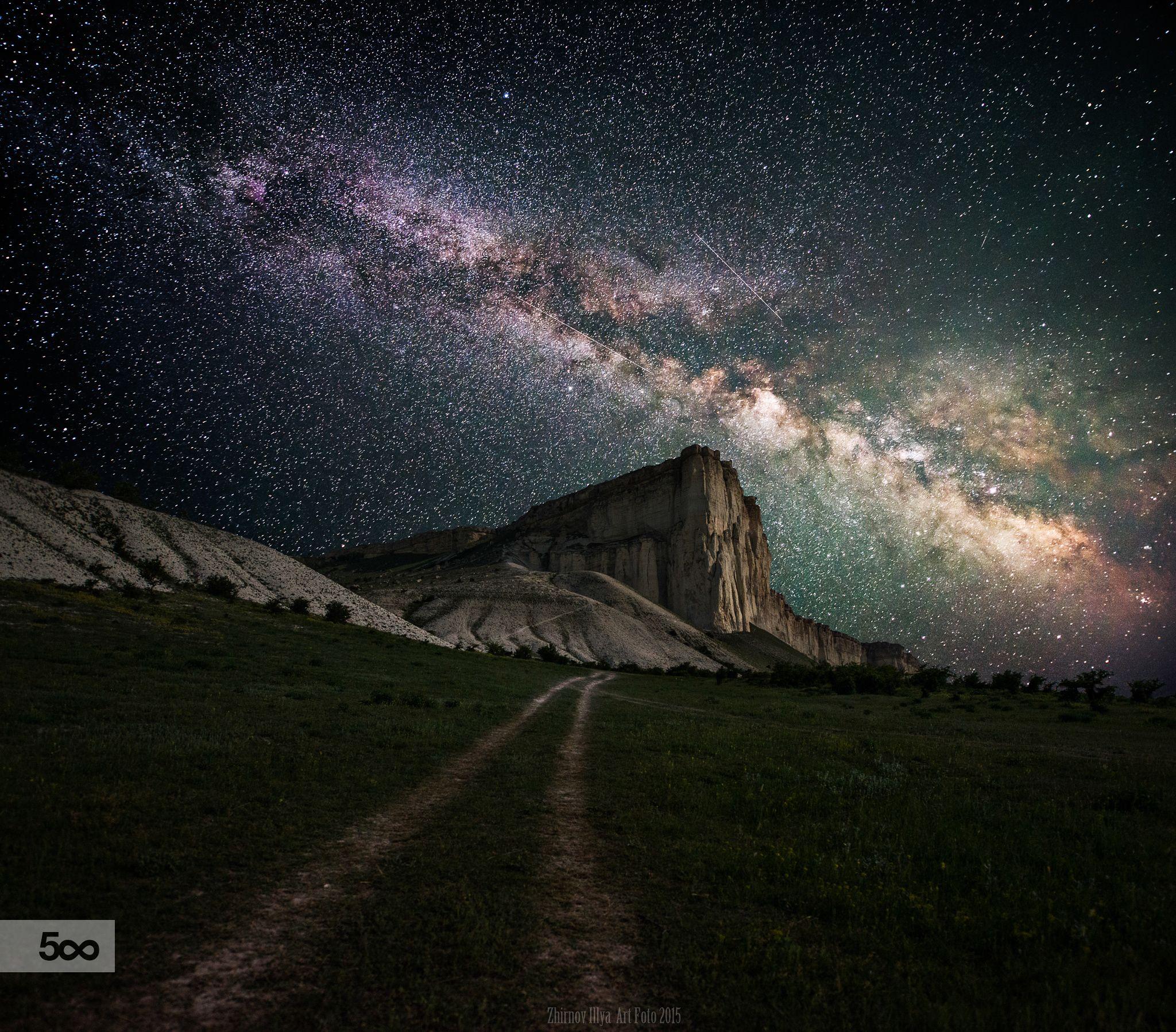 The White Rock By Ilya Zhirnov On 500px Astrophotography Forgotten Galaxy Galac Beautiful Landscapes Landscape Photography Fine Art Landscape Photography