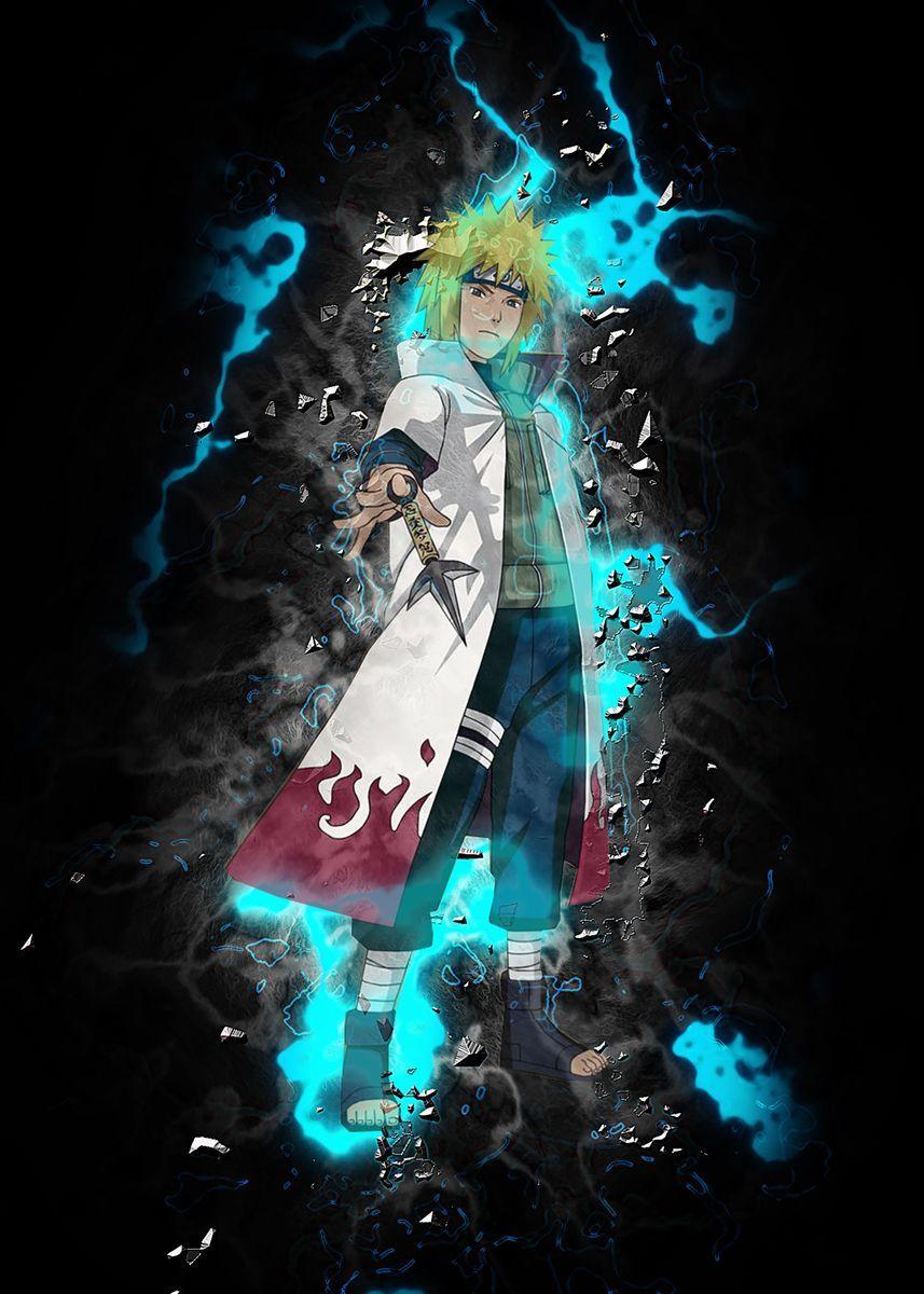 Minato Namikaze Poster Print By Goca Art Displate Naruto Uzumaki Art Naruto Painting Naruto Fan Art