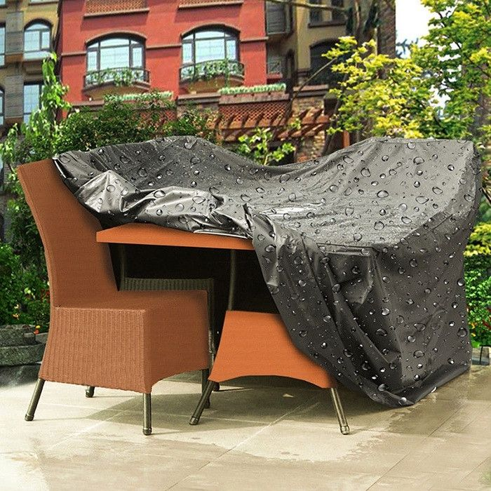 2 pvc tamaño de poliéster negro mesa de sofá sofá cubierta ...