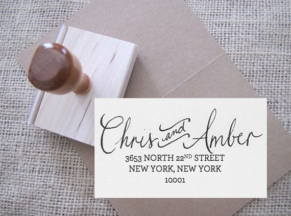 Custom Stamp | It is a little odd that there is no last name but I kind of love it