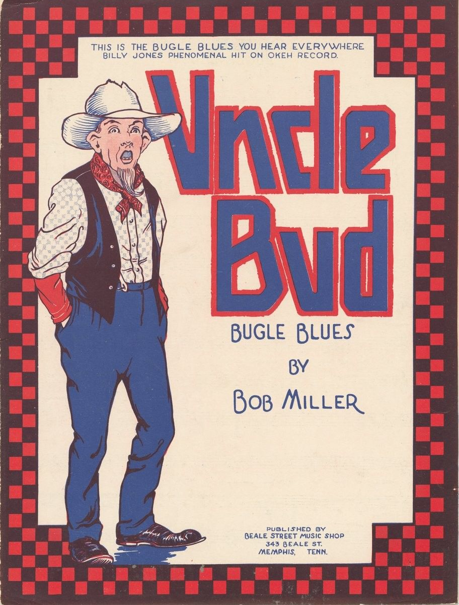 1922 Uncle Bud. sheet music cover Music covers