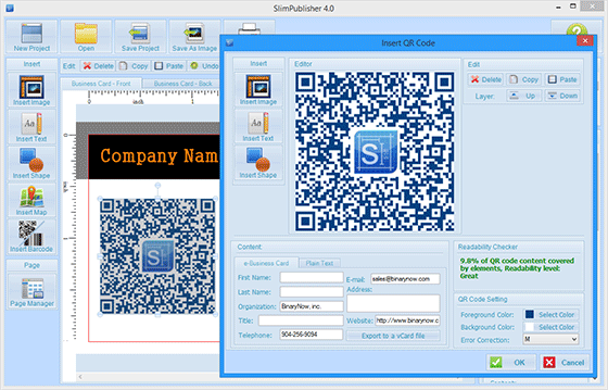 add artistic qr code to your business card  letterhead