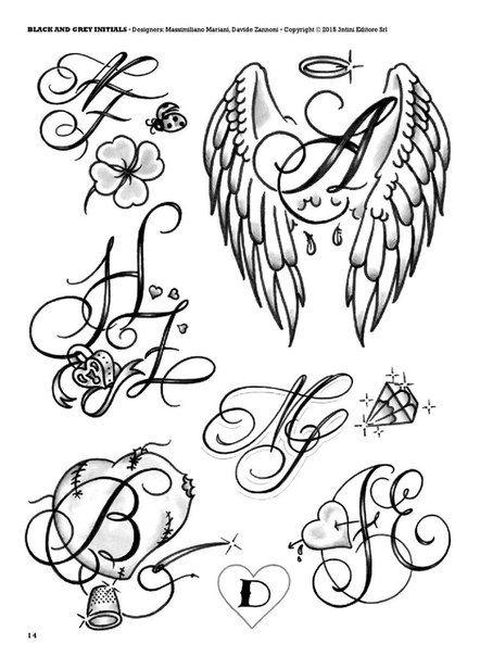 Initials Tattoo Vk In 2020 Initial Tattoo Tattoo Lettering Feather Tattoos