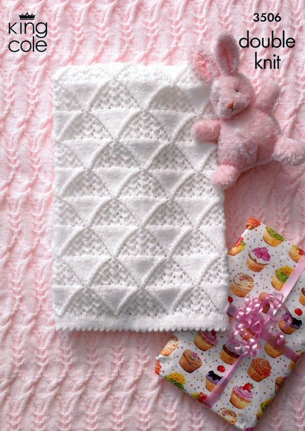 Such a sweet baby blanket from @deramores in King Cole DK | mantas ...