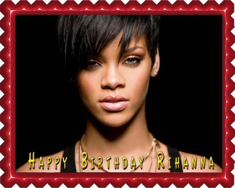 Rihanna 2 Edible Birthday Cake Topper OR Cupcake Topper Decor