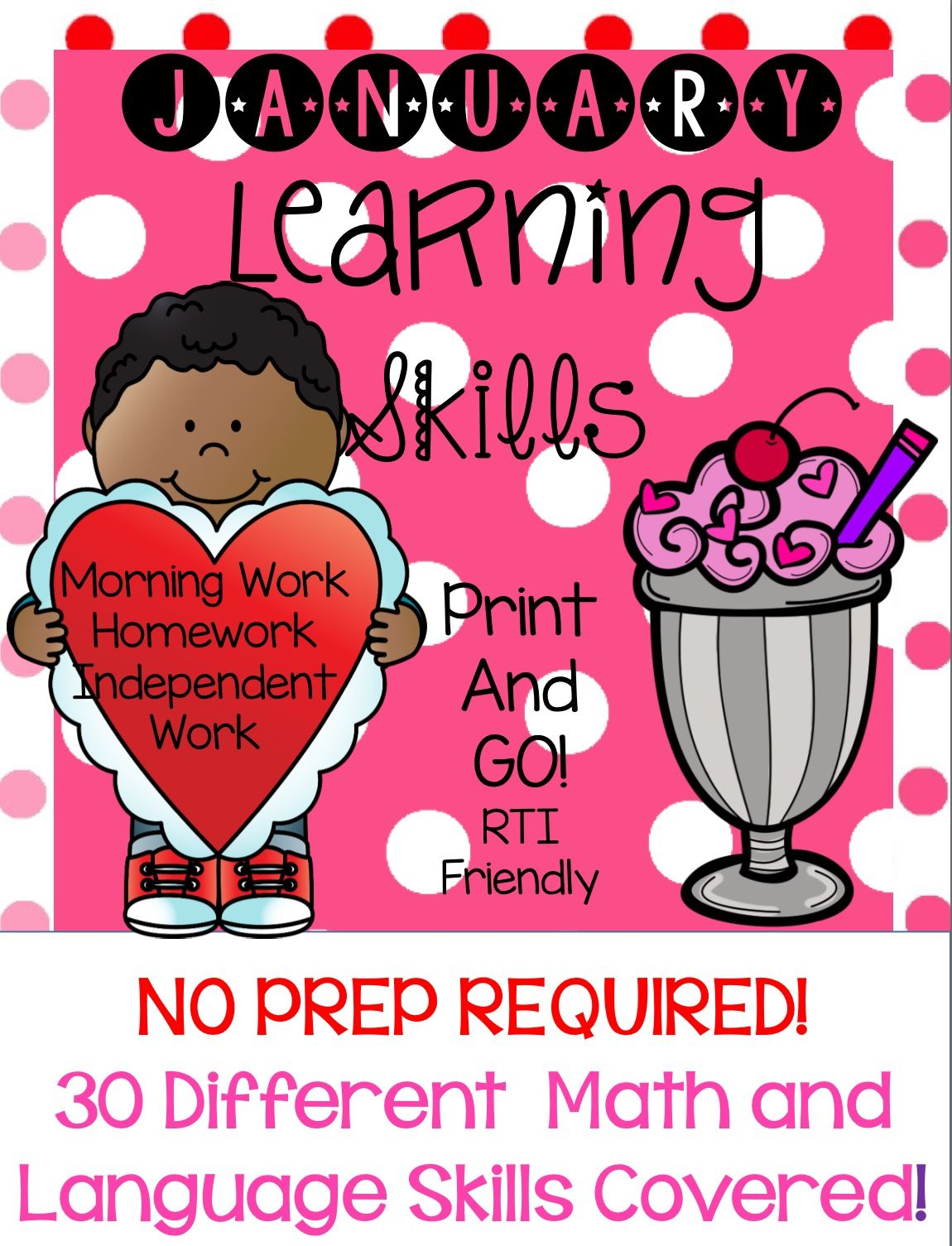 No Prep February Learning Skills Pre K4 And Kindergarten