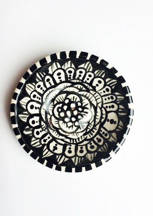 SOLD- flower bowl- 79