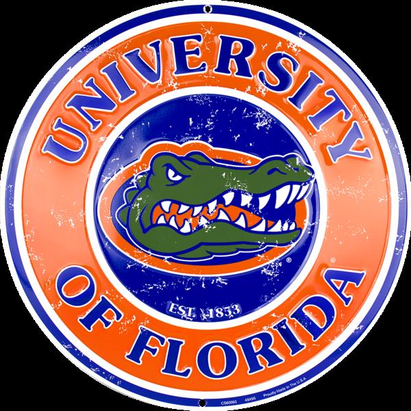 Florida Gators Circle Sign Florida Gators Logo Florida Gators Florida Gators Football