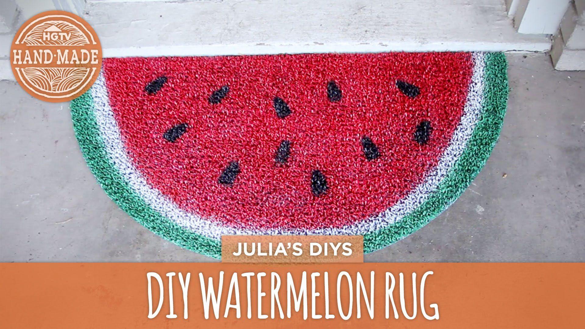 DIY Watermelon Rug - HGTV Handmade