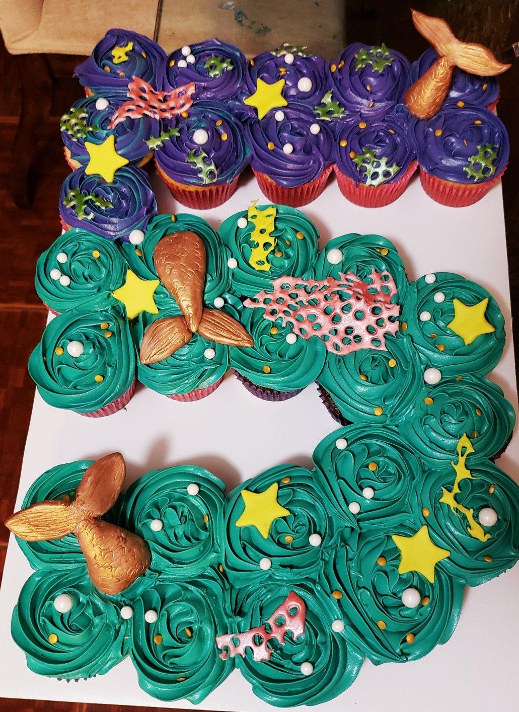 Terrific Mermaid Theme Number 5 Cake Cookie Birthday Party Mermaid Cakes Personalised Birthday Cards Akebfashionlily Jamesorg