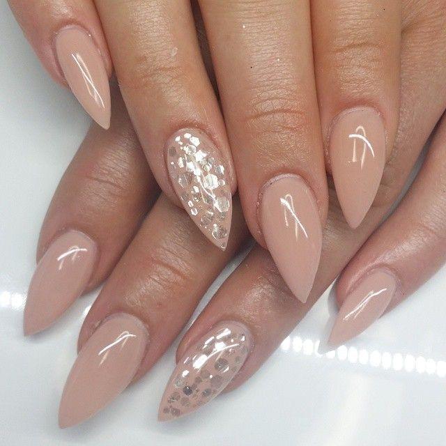 Natural Colored Gel Nails