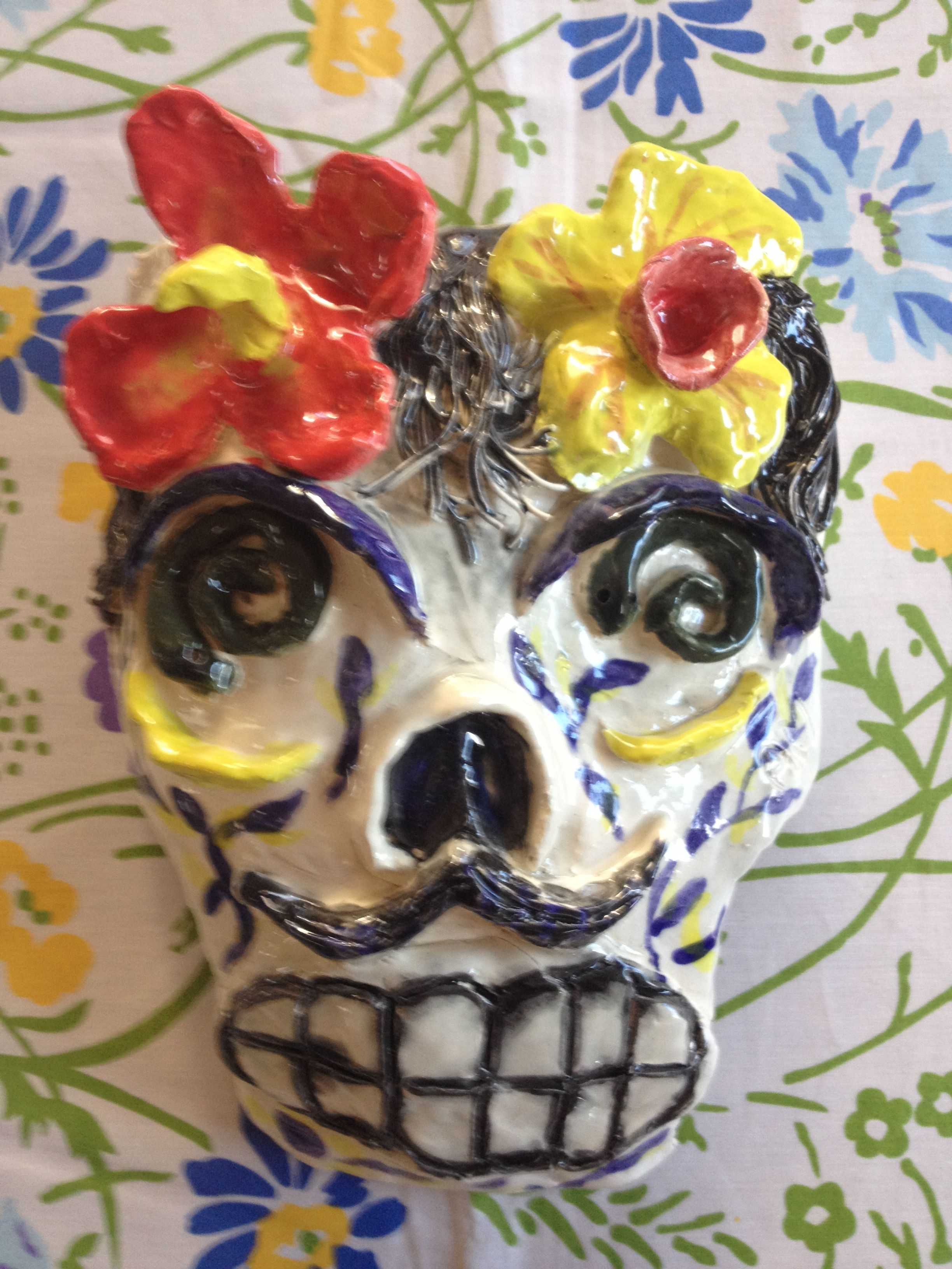 My Calavera clay mask, made Sept. 2013