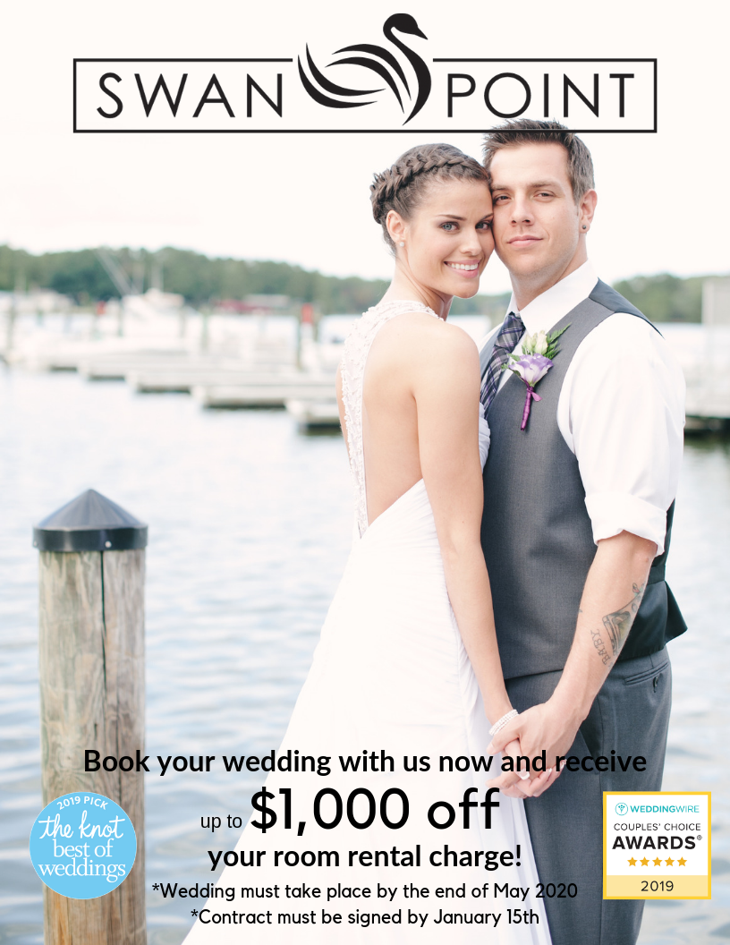 Book your Maryland Wedding with us now and save! Up to