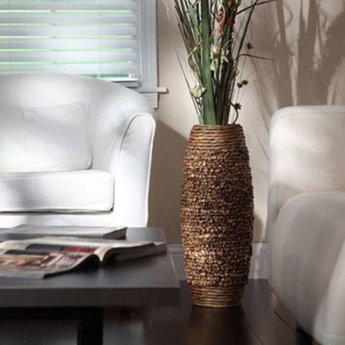 Tall Hyacinth Floor Vase 23 Big Brown Woven Decorative Large Elegant Home Decor Generic Home Decor Vases Large Vases Decor Tall Floor Vases