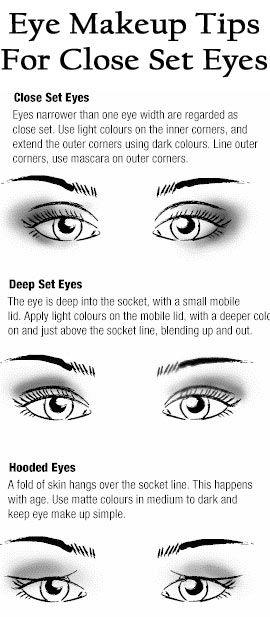 8 Eye Makeup Tips For Close Set Eyes | Hooded eyes, Eye and Makeup
