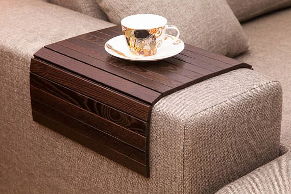 Ottoman Trays On Brown Couch