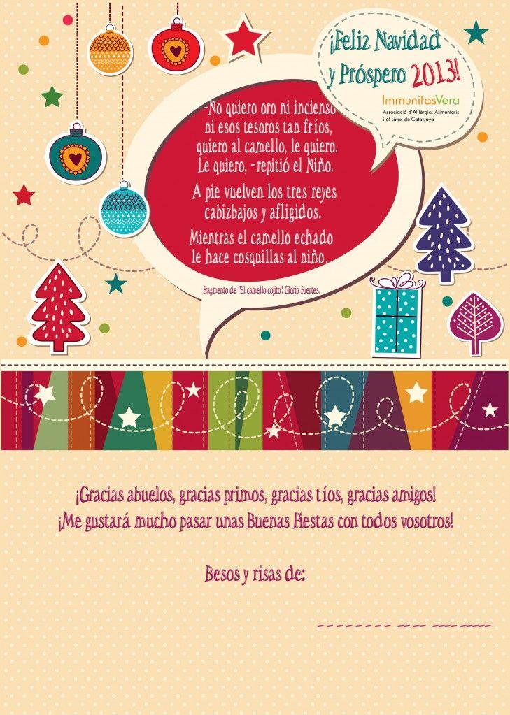 Felicitación Navidad 2012 de Immunitas Vera