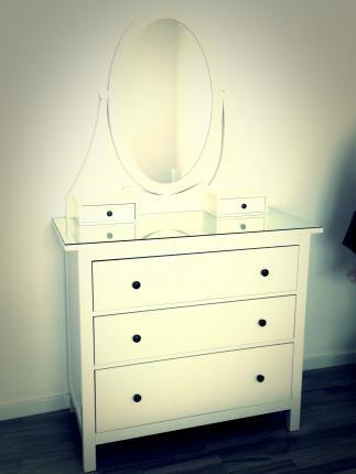 Se vende Tocador blanco, IKEA SEGUNDA MANO serie HEMNES + cómoda de ...
