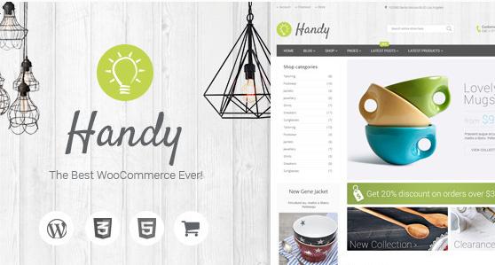 Themeforest WordPress: Handy – Handmade Shop WordPress WooCommerce ...
