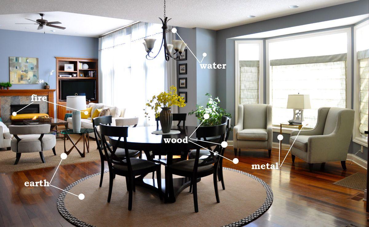 Living room feng shui colors
