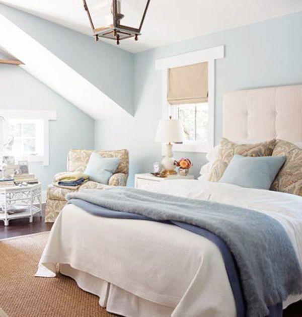 Simple Yet Elegant Blue Bedroom Walls Yatak odası iç