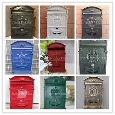 retro vintage european style aluminum wall mount mailbox letter box fks - Wall Mounted Mailbox