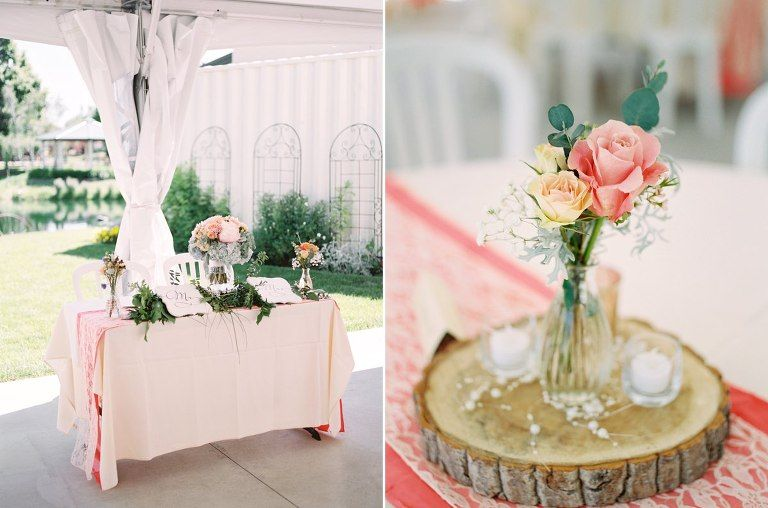 Head Table Bride And Groom Table Peach Head Table Peach Wedding