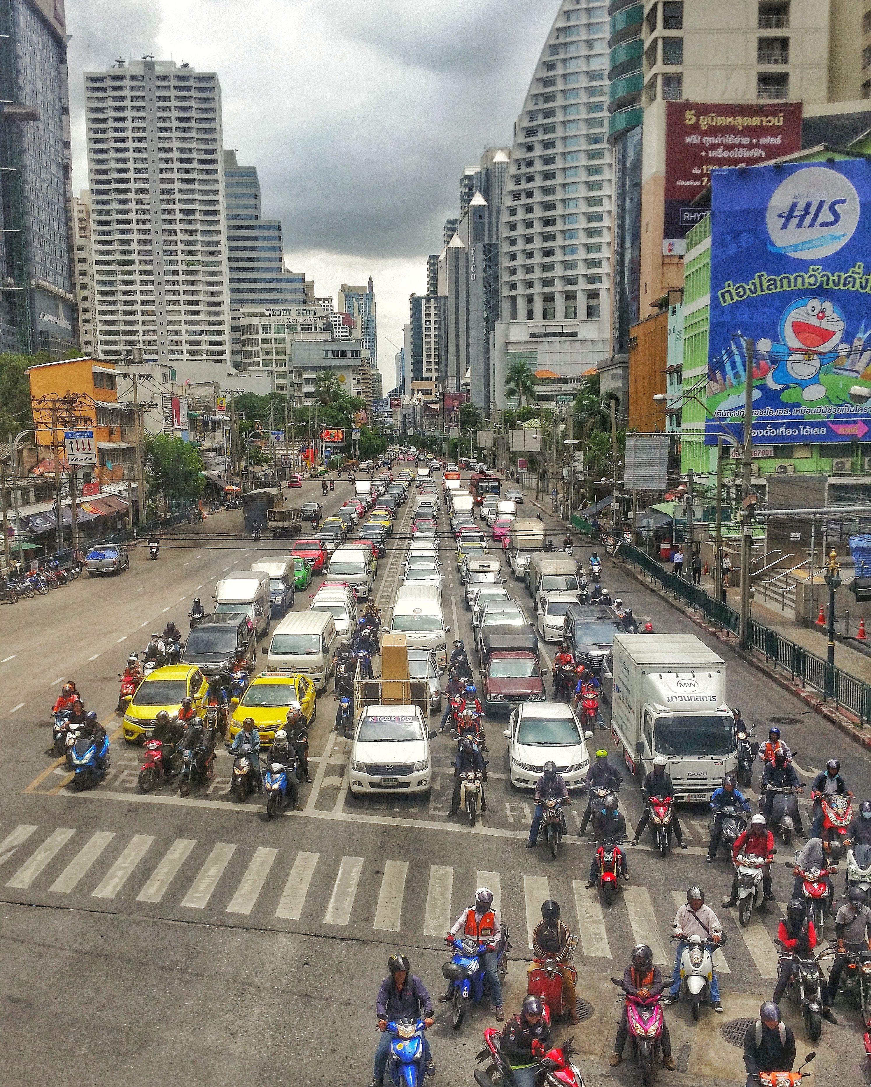The Busy Streets Of Bangkok Bangkok Thailand Streets With