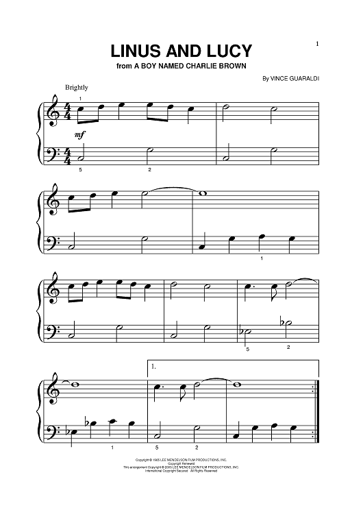 Peanuts theme song piano pdf torrent