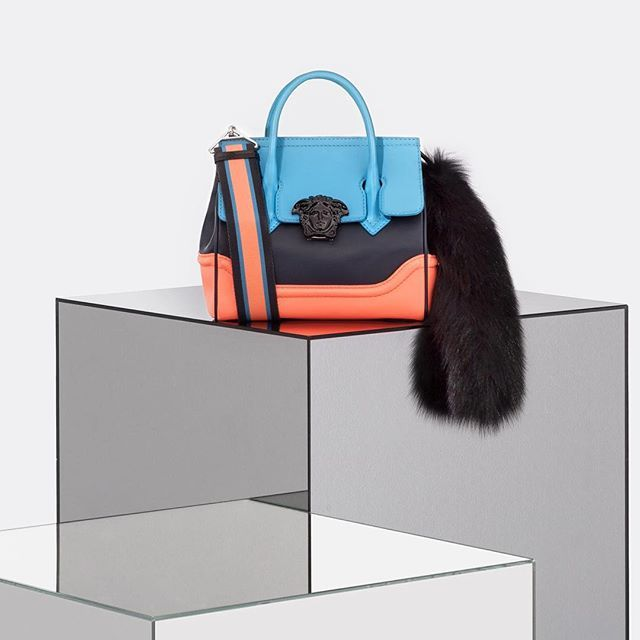 Supple luxury - the #VersacePalazzoEmpire is a dual-carry style bag available in vibrant new colors and sizes.