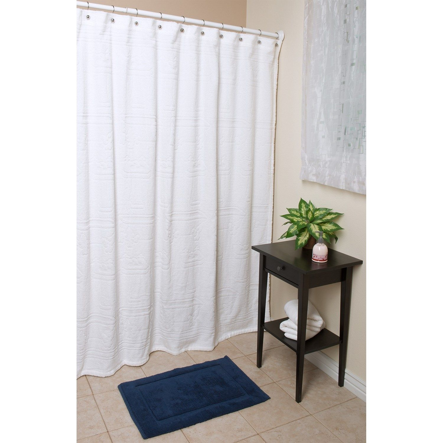 """Espalma Terry Shower Curtain - 72x72"""", Cotton 